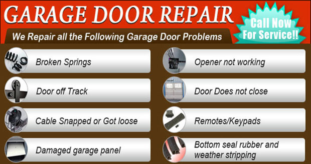 Orange County Garage Door Repair Service List
